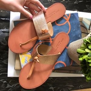 NWOT joie Rose Gold thong sandals